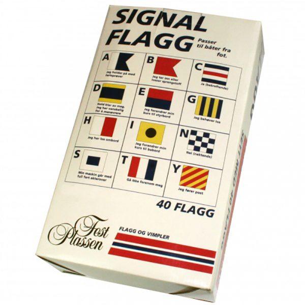 Signalflagg 42 x 30 cm. 40 signal flagg passer til båter fra 20 - 50 fot.
