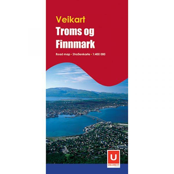 Veikart Troms og Finnmark. Road map. Reise i Norge.