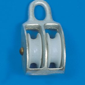 Blokk m.nylon hjul dobbel 30mm