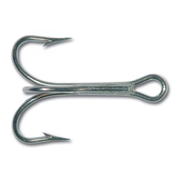 Krok Mustad str. 2 Treble. Den mest brukte treblekroken for sjøfiske. Str. 2 er perfekt til sluker på rundt 25 gr.