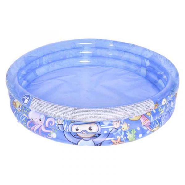 Badebasseng Sea World 3 ringer 165 liter. Sommermoro for barn. Bade basseng, plaskebasseng. bading.