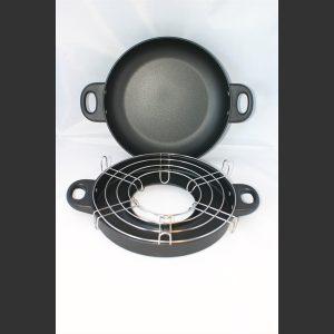 Kombipanne m non-stick belegg og grill