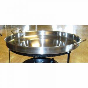 Stekepanne / wok for gasskoker med stativ. Lag mat ute på bål. Wokpanne.