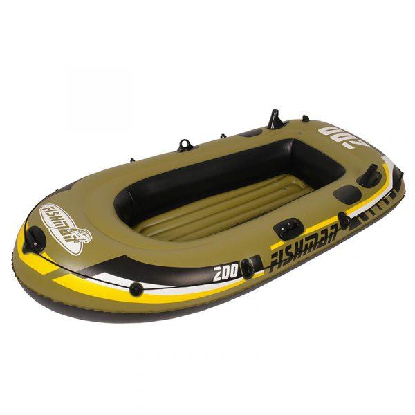 Fishman 200 gummibåtsett 218x110cm. 2 personer maks 190kg. 2 luftkamre. Med årer og pumpe.