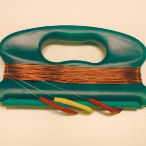 Harpe Minidorg med kobbertråd. Havfiske, snøre, søkke, fisk, fiske, dorging, pilking.