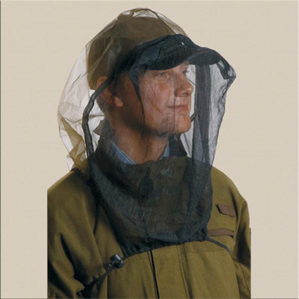 Myggnett hode holder myggen vekk fra hode og hals. Mygg nett er effektiv mot mygg.