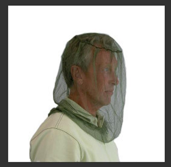 Myggnett mini holder myggen vekk fra hode og hals. Mygg nett er effektiv mot mygg.