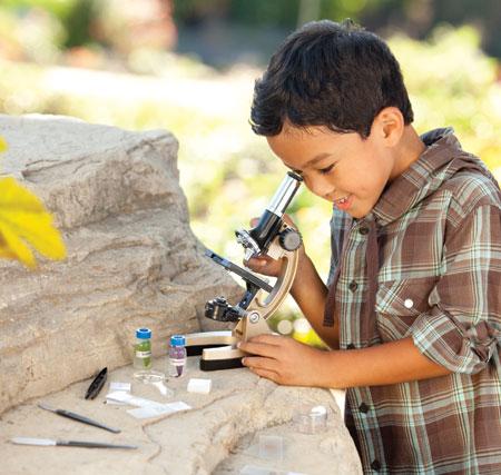 Mikroskop sett med 48 deler. Mikro pro mikro-skop. Forstørrer 50x til 600x