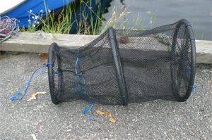 Oppbevaringsnett for småfisk og krabber