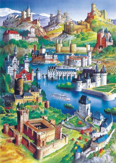 Puslespill Europas slott fra Educa puzzle