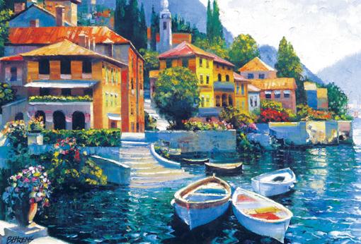 Puslespill Lake Como fra Educa puzzle
