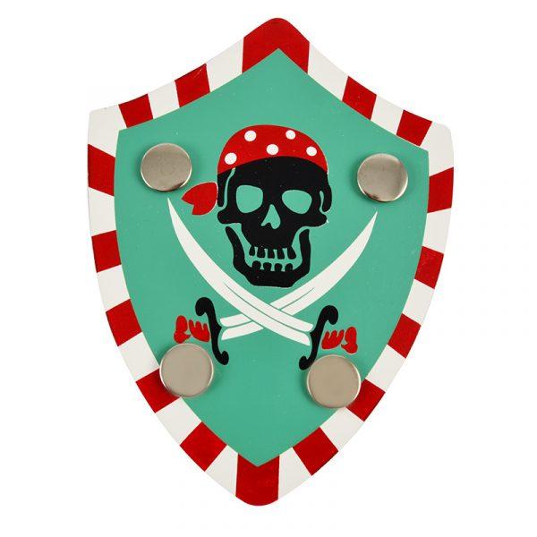 Piratsett i veske, 8 deler. Treleker, Flott sett, enkelt å bringe med. Sjørøver, pirat.