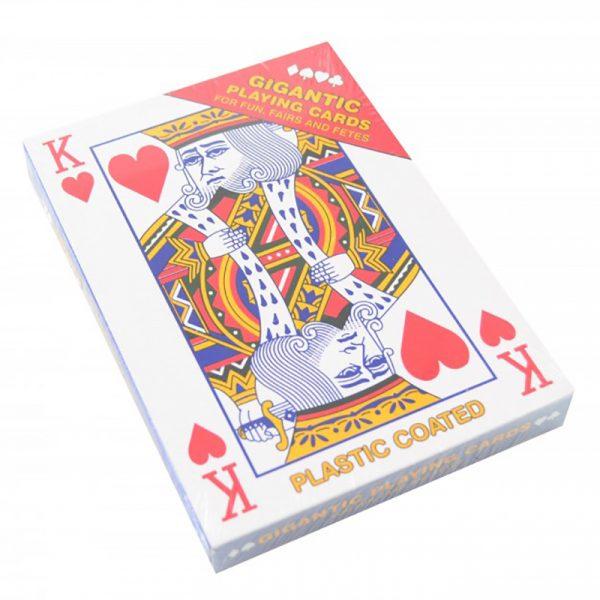 Gigantiske spillekort fra Magni. Jumbo spillkort. Kjempe kort.