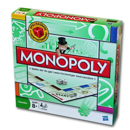 Monopol, monopoly brettspill.