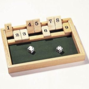 Shut the box spill fra Goki. Terningspill.