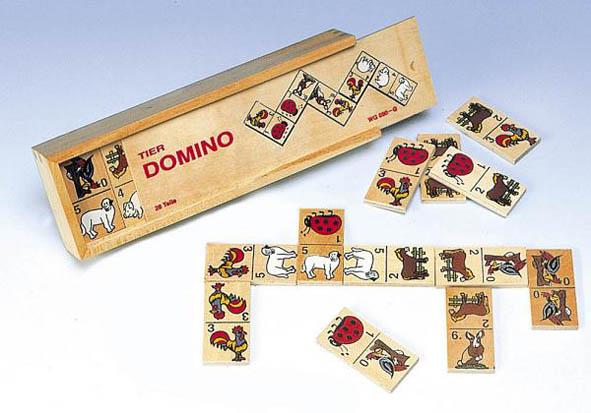 Dyre domino spill. Klassisk dyredomino i tre eske.