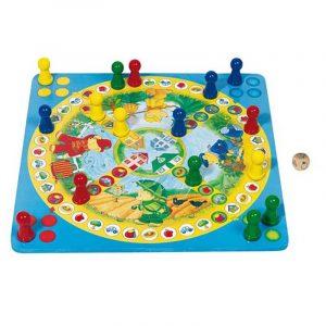 Gigant ludo med bjørner fra Goki. XXL spill, bordspill.