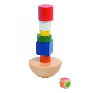 Spill i tre fra Goki. Balanse spillet i solid tre. Balansetårn.