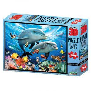 Beneath the Wave Super 3D puslespill, 500 biter