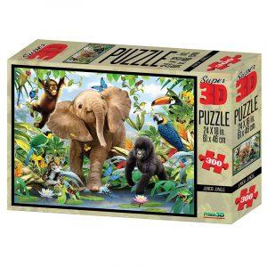 Junior Jungle Super 3D puslespill, 300 biter