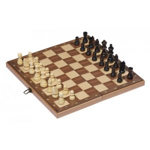 Sjakk spill i tre fra goki. 38 cm. Chess.
