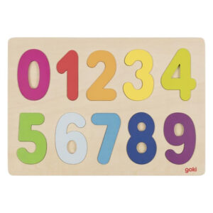 Puslespill lær tallene 0-9 puttepuslespill i tre.