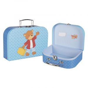 Koffert teddybjørn. En koselig liten barnekoffert. 30x20,4x9cm. Reise.