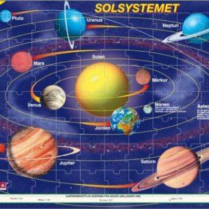Puslespill solsystemet fra LA Larsen puslespillfabrikk