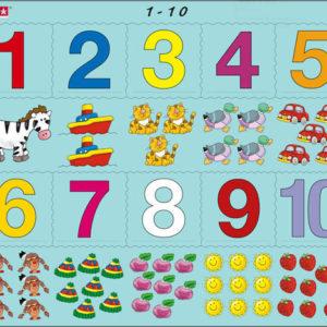 Puslespill Larsen puslespillfabrikk. Et spill om Lær å telle 1 - 10.