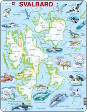 Puslespill Svalbard Fysisk med Dyr