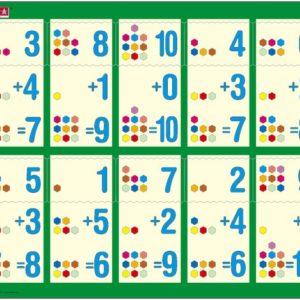Puslespill Larsen puslespillfabrikk Addisjon 1-10b. Puslespill med addisjonsoppgaver, legg til tallet som mangler.