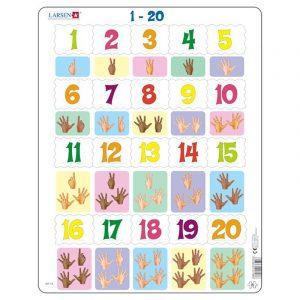 Puslespill Larsen puslespillfabrikk Spill lær å telle, 1 - 20.