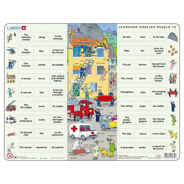 Puslespill Larsen puslespillfabrikk Spill med engelsk undervisning. Lær engelsk. Learning english puzzle 10.