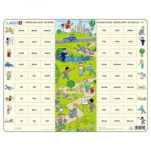 Puslespill Larsen puslespillfabrikk Spill med engelsk undervisning. Lær engelsk. Learning english puzzle 11.