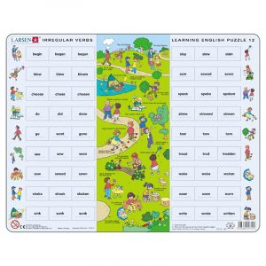 Puslespill Larsen puslespillfabrikk Spill med engelsk undervisning. Lær engelsk. Learning english puzzle 12.