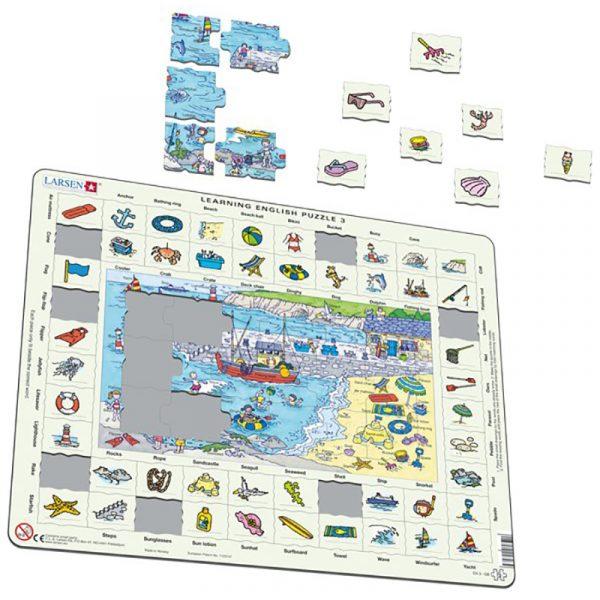 Puslespill Larsen puslespillfabrikk Spill med engelsk undervisning. Lær engelsk. Learning english puzzle 3.