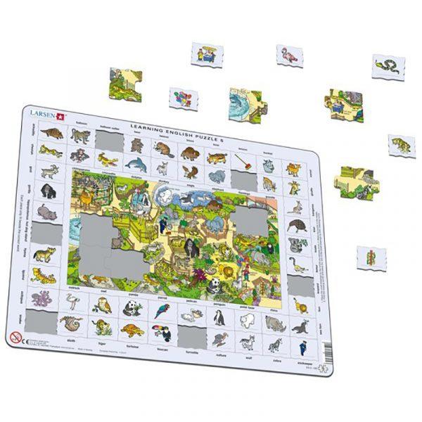 Puslespill Larsen puslespillfabrikk Spill med engelsk undervisning. Lær engelsk. Learning english puzzle 5.