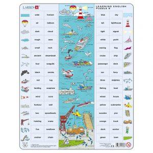 Puslespill Larsen puslespillfabrikk Spill med engelsk undervisning. Lær engelsk. Learning english puzzle 8.