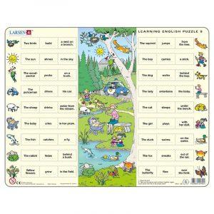 Puslespill Larsen puslespillfabrikk Spill med engelsk undervisning. Lær engelsk. Learning english puzzle 9.