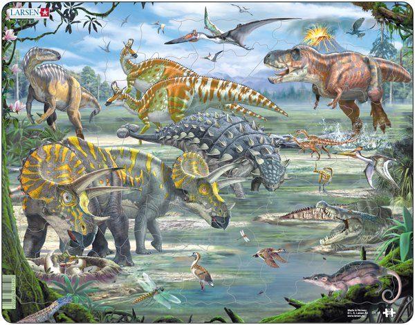 Puslespill Larsen puslespillfabrikk Dinosaurer.