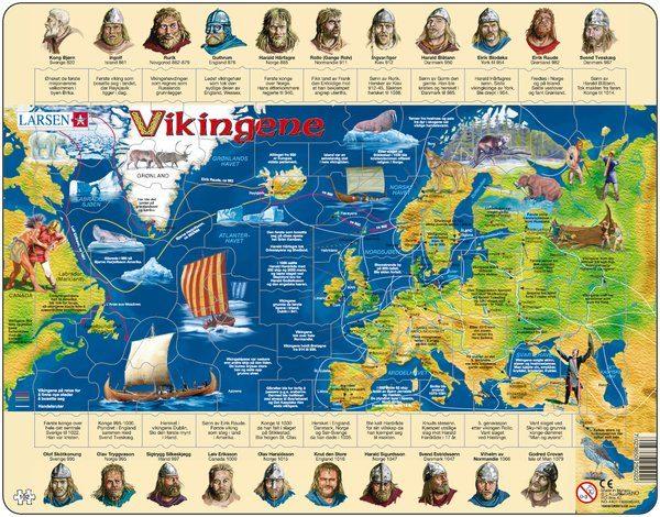 Puslespill fra Larsen puslespillfabrikk, om Vikingene.