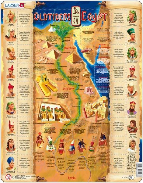 Puslespill fra Larsen puslespillfabrikk. Her kan du pusle historie. Dette er historien om Oldtidens Egypt.