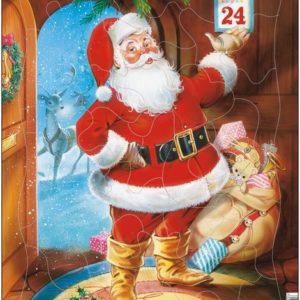 Puslespill fra Larsen puslespillfabrikk Julenissen den 24 desember.