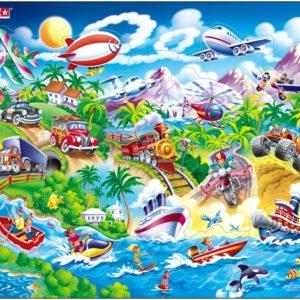 Puslespill Larsen Puslespillfabrikk Spill med biler, båter, tog og fly