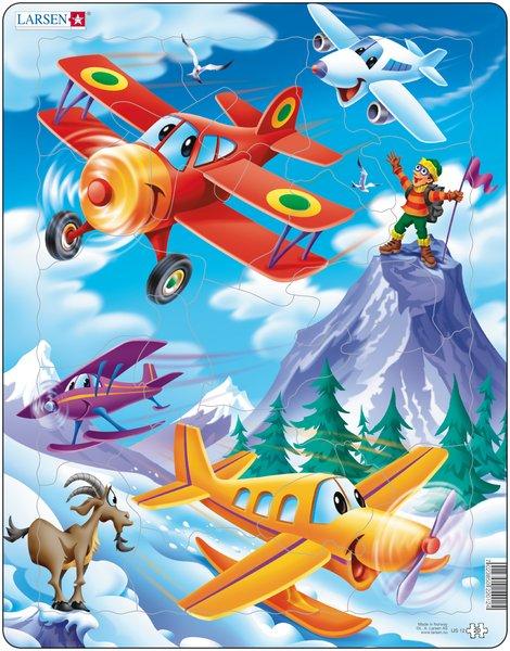 Puslespill Larsen puslespillfabrikk. Spill med fly fra Larsen puslespillfabrikk.