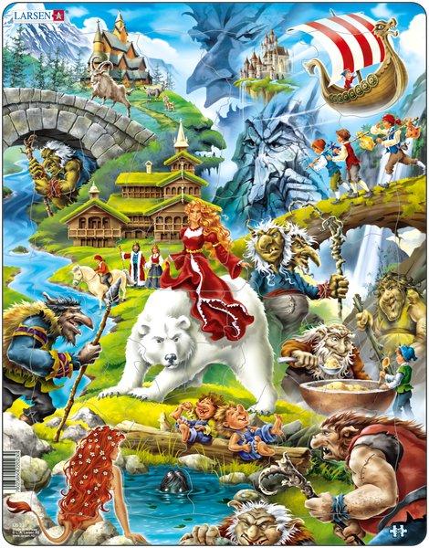 Puslespill om Folkeeventyr fra Larsen puslespillfabrikk