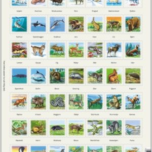 Puslespill med dyremotiv, Zoo 1. Fra Larsen puslespillfabrikk.