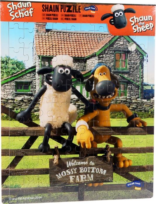 Puslespill med Sauen Shaun. Dette puslespillet er fra landsbygda med Sauen Shaun og vennene hans.