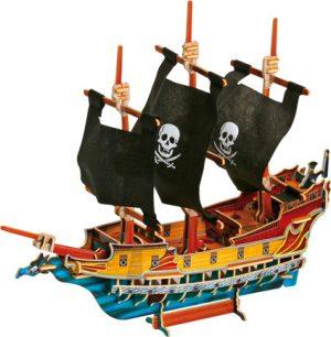 3D Puslespill Piratskip i tre
