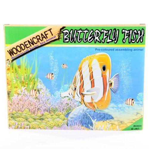 3D puslespill, Sommerfuglfisk. Et puzzle i tre finer av Sommerfugl fisk.